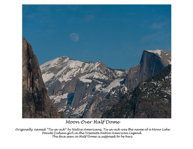 6 - Moon Over Half Dome