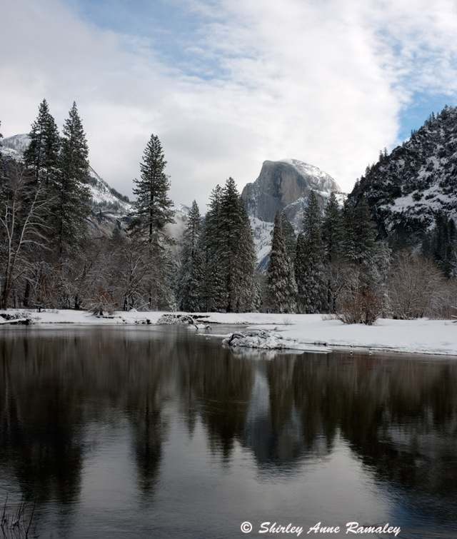 Half-Dome in Winter