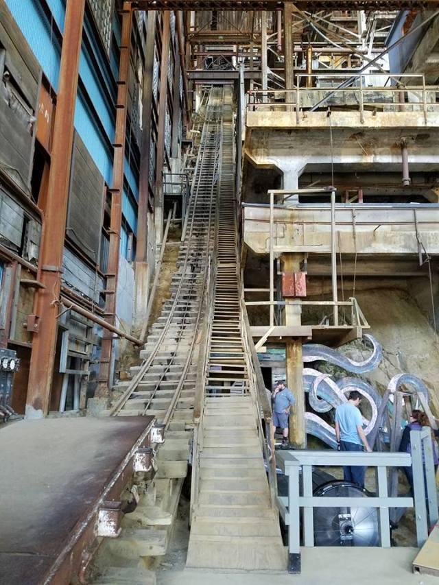 mine-stairs
